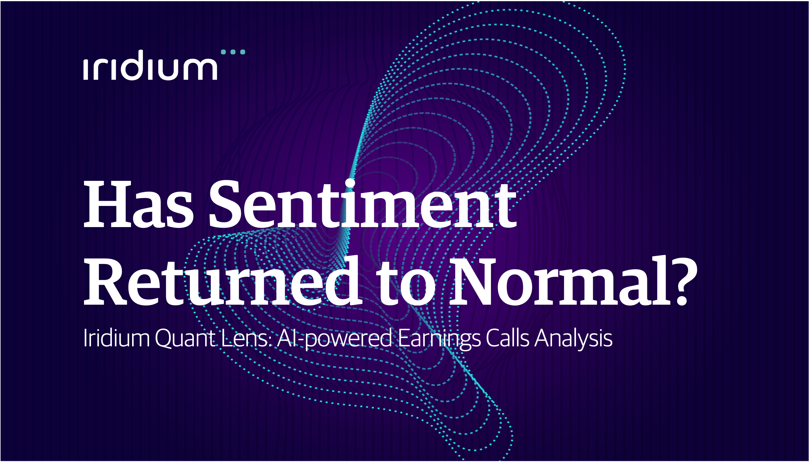 Has Sentiment Returned to Normal?