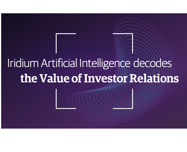 Iridium Unveils the World's First Machine Learning Algorithms that Decode the Value of Investor Relations