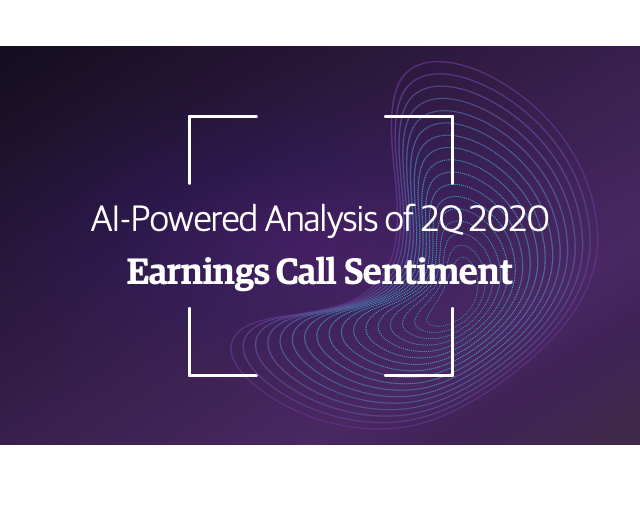 2Q 2020 Earnings Call Sentiment Points to Early Signs of Recovery Amidst Covid-19