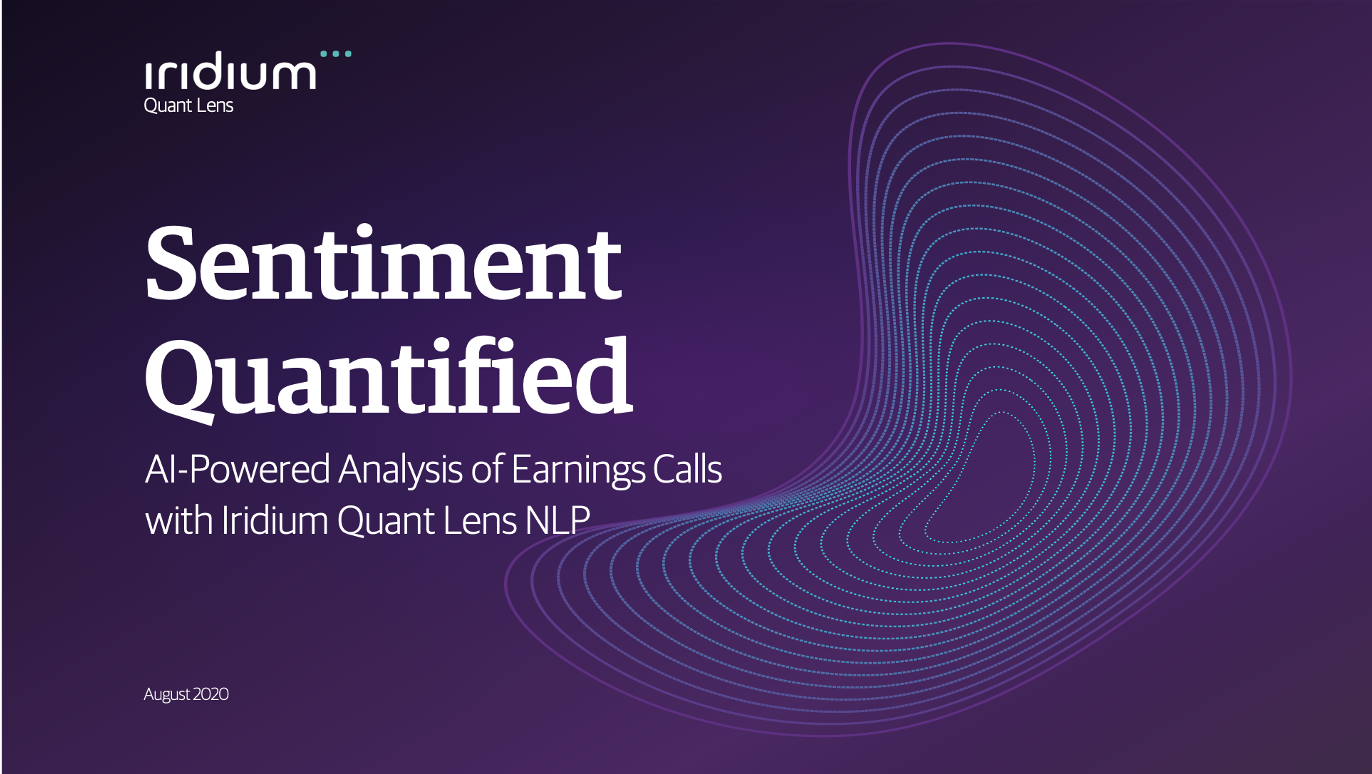 Sentiment Quantified: AI-Powered Analysis of Earnings Calls with Iridium Quant Lens NLP